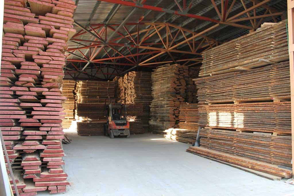 Trocknen von Holz