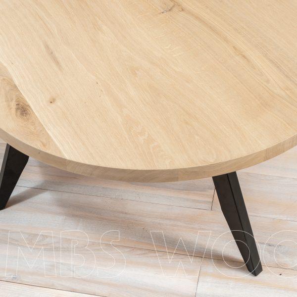 round coffee oak table