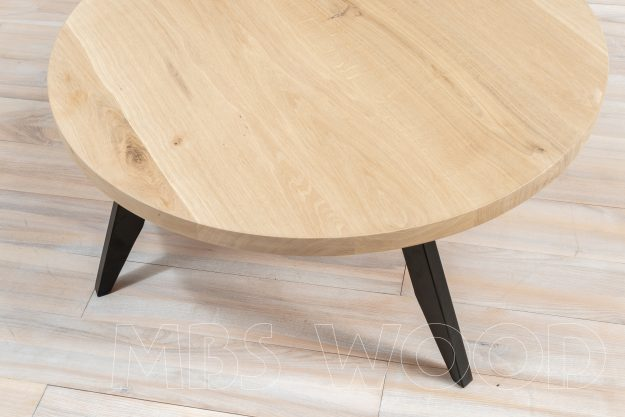 round coffee oak table
