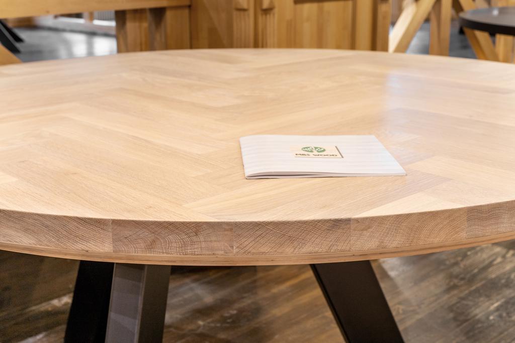 runde Tischplatten aus Hartholz