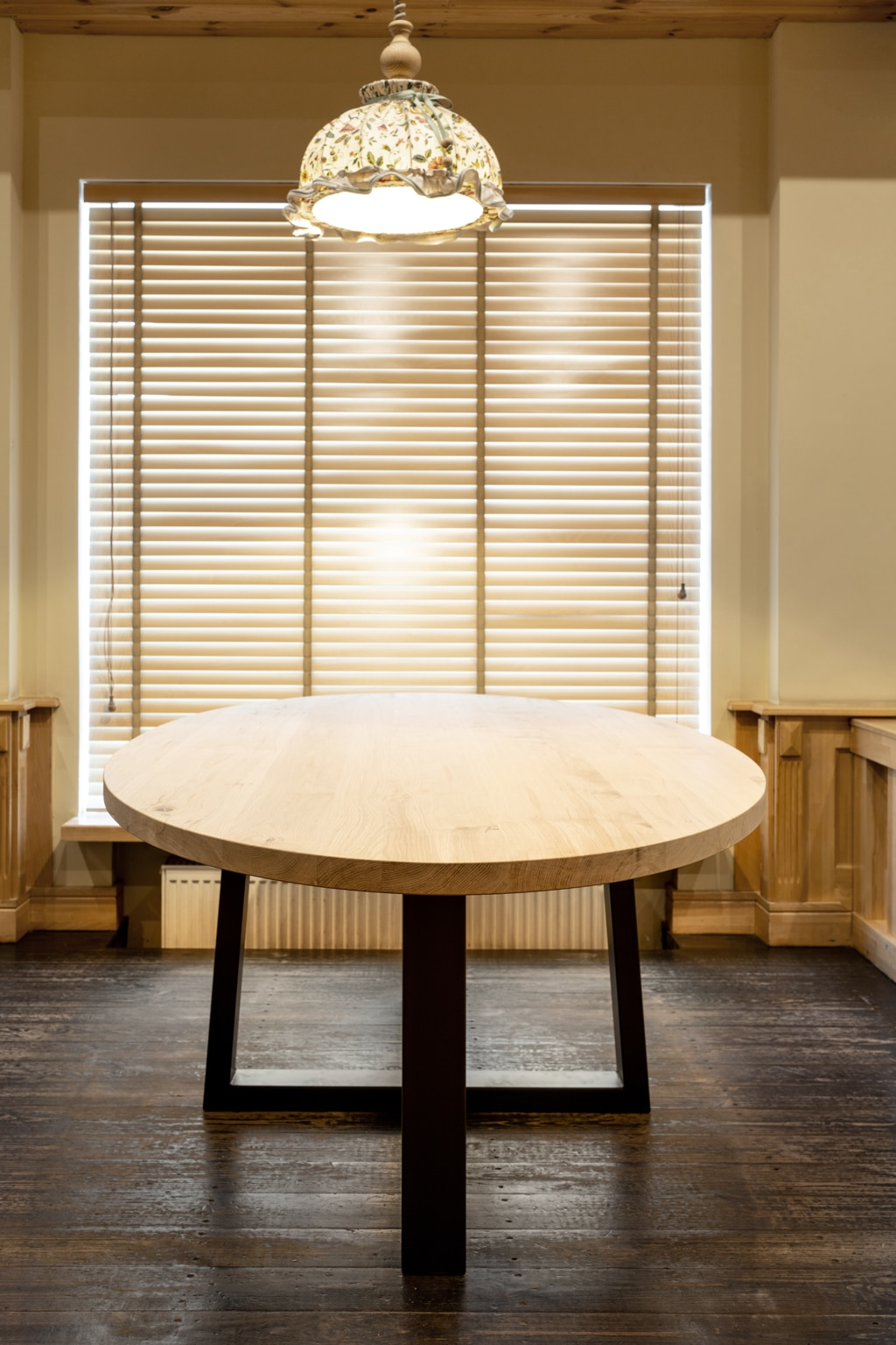 Nur runde Tischplatten