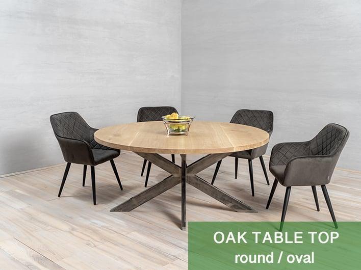 runde / ovale Tischplatte